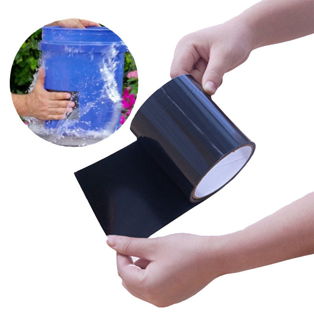 150cm/roll Black Super Strong Duct Tape Waterproof Adhesive Plaster Tape 10cm Water Pipe Tool For Bucket Pipes Water Leak Stop