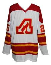 Vintage Atlanta Flames Belanger Plett Hockey Jersey Embroidery Stitched  Customize any number and name Jerseys. ebc67223a