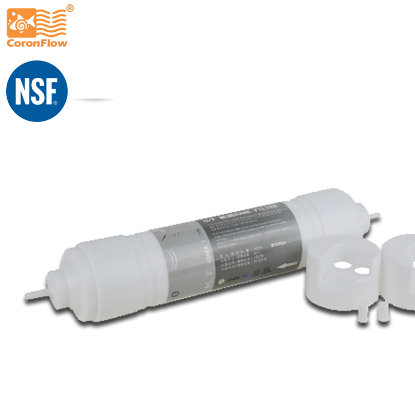 Coronflow Quick Change Ultrafiltration Filter Cartridge, NSF certificated Hollow Membrane QC-UF-11 replacement water filter cartridge for quick change ultrafiltration water filter ui 4