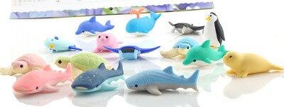 Ocean Animal Eraser Iwako Animal Eraser 3d Style Rubber 15pcs/lot