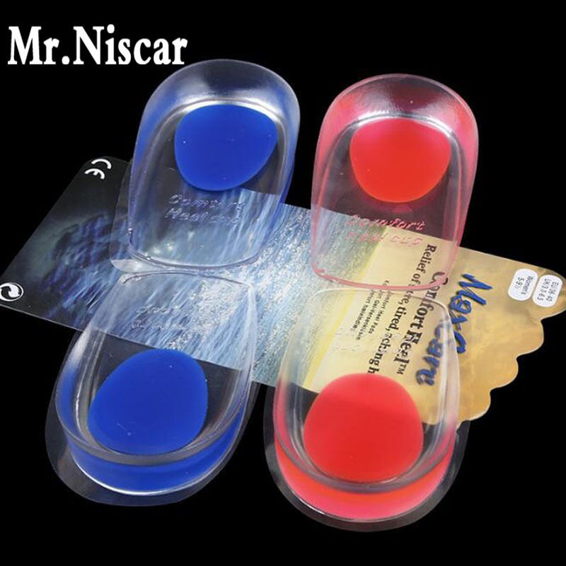 Mr.Niscar Silicon Gel Heel Pads Insoles Soles Relieve Foot Pain Protectors Spur Support Shoe Pad Feet Inserts Care Health 2 pcs foot care insoles invisible cushion silicone gel heel liner shoe pads heel pad foot massage womens orthopedic shoes z03101