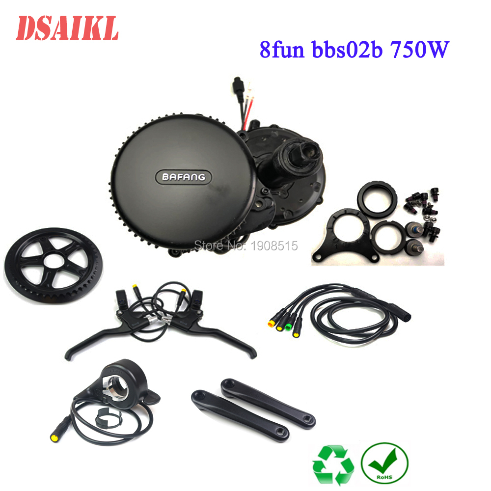 8fun/bafang BB 68MM 100MM 120MM motor 48v 750W C965 850C display BBS02b mid kurbel Motor eletric fahrrad kits