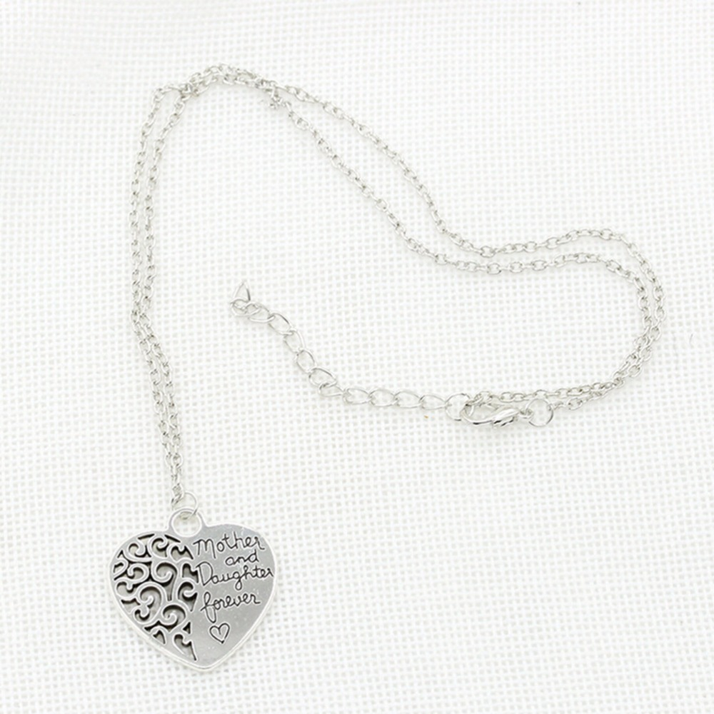 Heart love mom necklaces pendants for women girls female fashion heart love mom necklaces pendants for women girls female fashion jewelry silver plated mother daughter necklace in pendant necklaces from jewelry aloadofball Choice Image