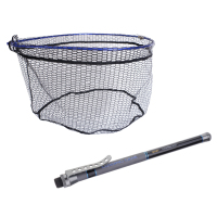 Soft Mesh Large Fishing Landing Net with 4.5M Extendable Landing Net Handle Rod Pole Gear Carp Fishing Accessories Tackles