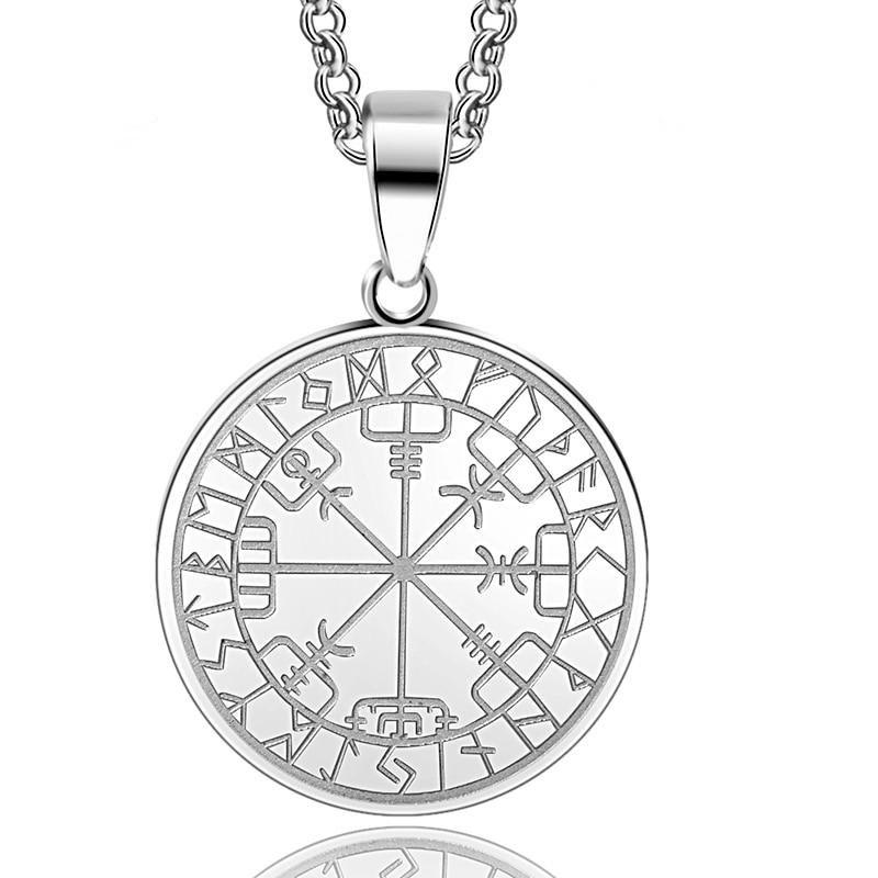 Abaicer 1pcs 316l Stainless Steel Viking Odins Symbol Of Norse