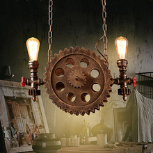 Industry wind light retro loft chandelier living room bedroom dining room bar club pub restaurant light gear cafe pendant lamp