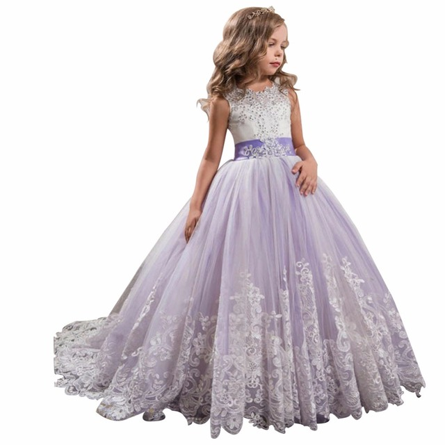 Zyllgf Bridal 2017 Ball Gown Luxury Beaded Girls Pageant Dresses