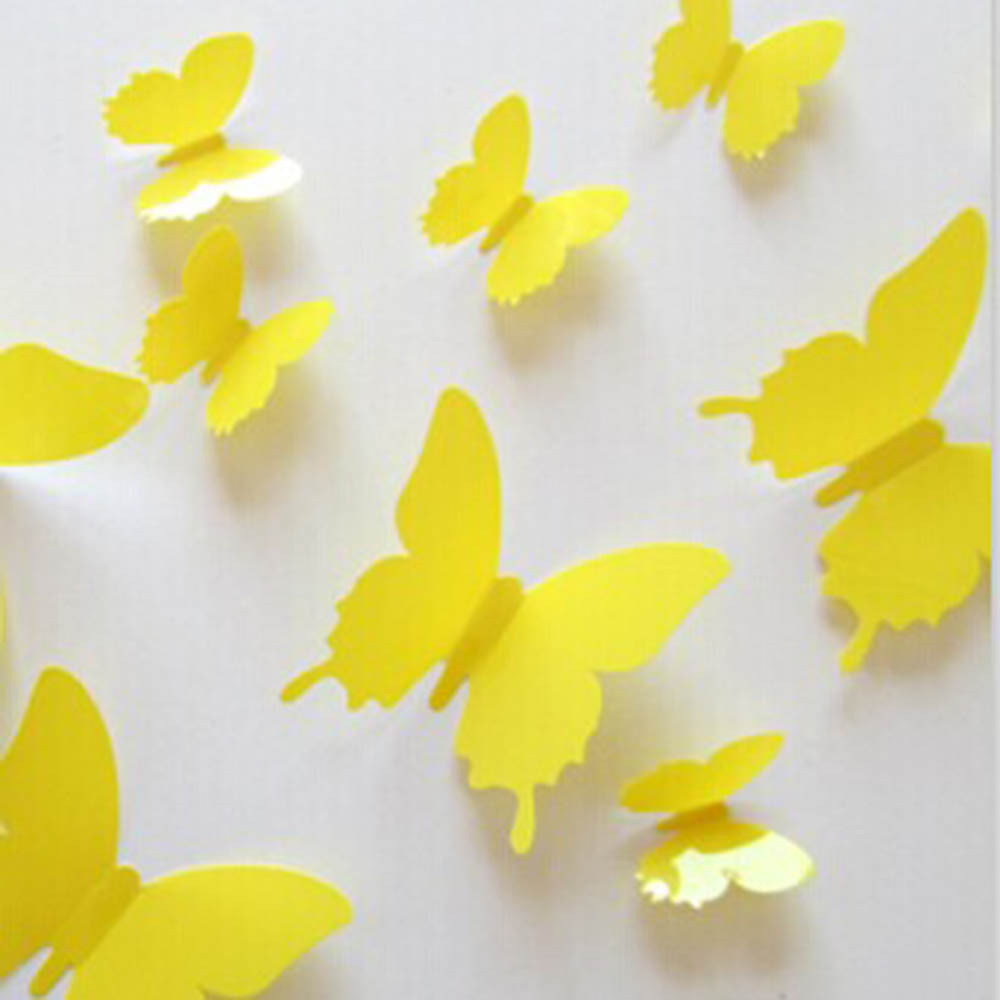 3D DIY Wall Sticker Stickers PVC Butterfly Modern Hoom Room Decorations 12PCS Kit