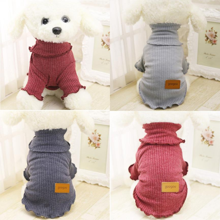 Classic Solid Dog Sweater Coats Fleece Sweater Pet Clothes For Small Dogs Chihuahua Winter Warm Puppy Costume French Bulldog