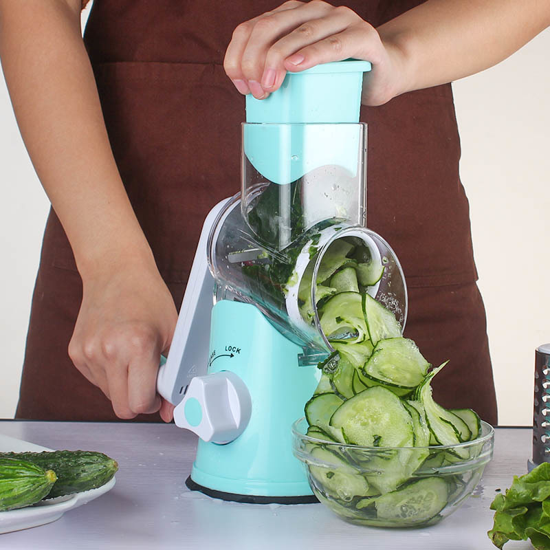 Multifunktionale Gemüse Cutter Manuelle Spirale Chopper Mandoline Slicer Käse Reibe Intelligente Gemüse Cutter Küche Werkzeuge