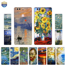 Phone Case For Huawei P9 Lite G9 Soft TPU Bumper For Huawei P9 / P9 Plus Shell For Huawei Honor 5C Cover Oil Painting Design(China)