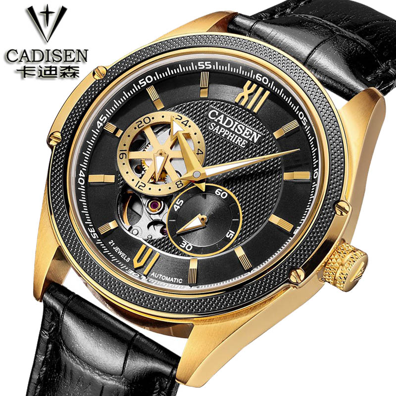 2016 Brand Tags Watch Men Luxury Gold Skeleton Hand Wind Mechanical Watches Men's Fashion Leather Wristwatches Montre Homme fashion men mechanical hand wind watches men skeleton stainless steel wristwatches for male luxury golden watch men