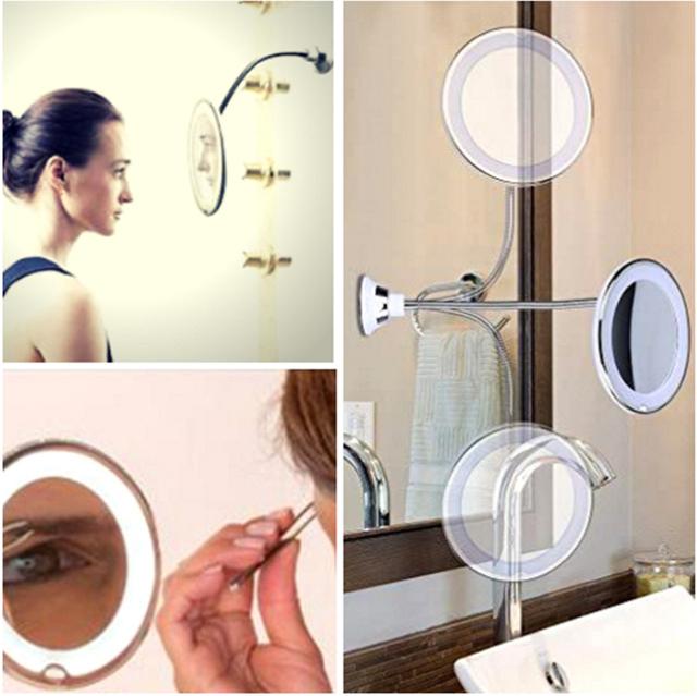 Magnifying Flexible Vanity Mirror