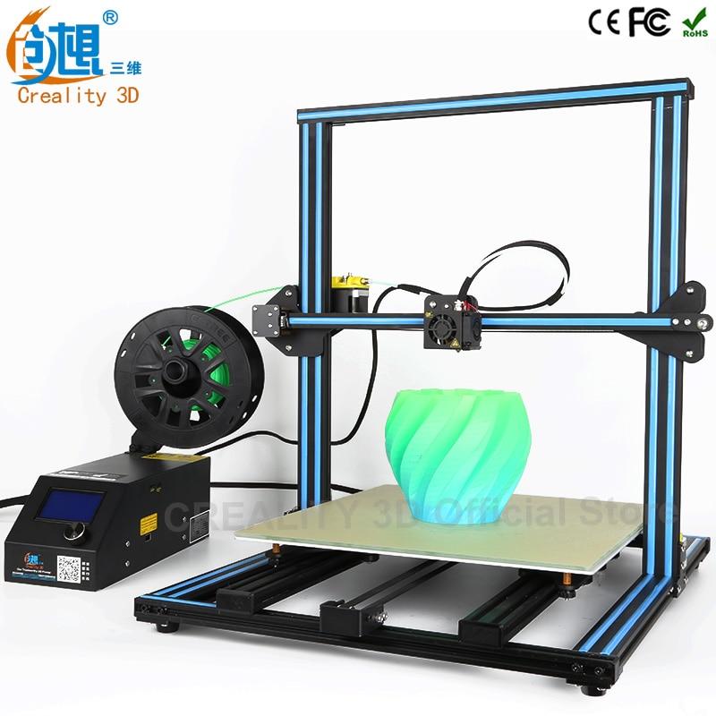 3D Printer Machine CREALITY 3D CR-10 3d printer diy reprap prusa i3 size 500*500*500mm V-solt metal frame DIY Kit high precision