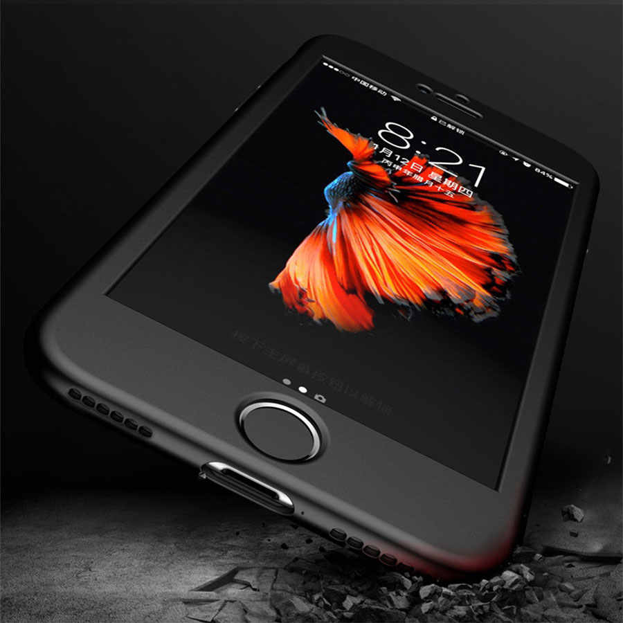 ファッションシリコンソフト電話ケースiphone用7 6 × 5 5 s se 360フルカバーケースiphone用6 6 s 7 ×プラス保護電話バッグ