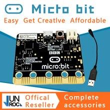 BBC micro:bit nRF51822 KL26Z, Bluetooth, 16 КБ ОЗУ, 256 Кб, флэш память, компьютер карманного размера для детей, начинающих, для обучения python JS