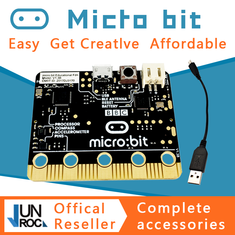 BBC Micro:bit NRF51822 KL26Z Bluetooth 16kB RAM 256kB Flash Cortex-M0 Pocket-sized Computer For Kids Beginners Learn Python JS