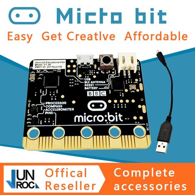 ה BBC מיקרו: קצת nRF51822 KL26Z Bluetooth 16kB RAM 256kB פלאש Cortex M0 כיס בגודל מחשב לילדים למתחילים ללמוד פייתון JS
