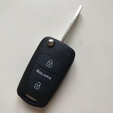Blank flip folding remote key shell for Hyundai Solaris 3 Buttons FOB Car key Ca