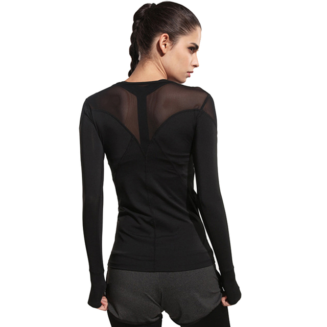 9a27857935f323 Women Yoga Top Women Yoga Shirts Long Sleeve Gym Fitness Running Clothing  Breathable Tight Shirt Female Sports Tops