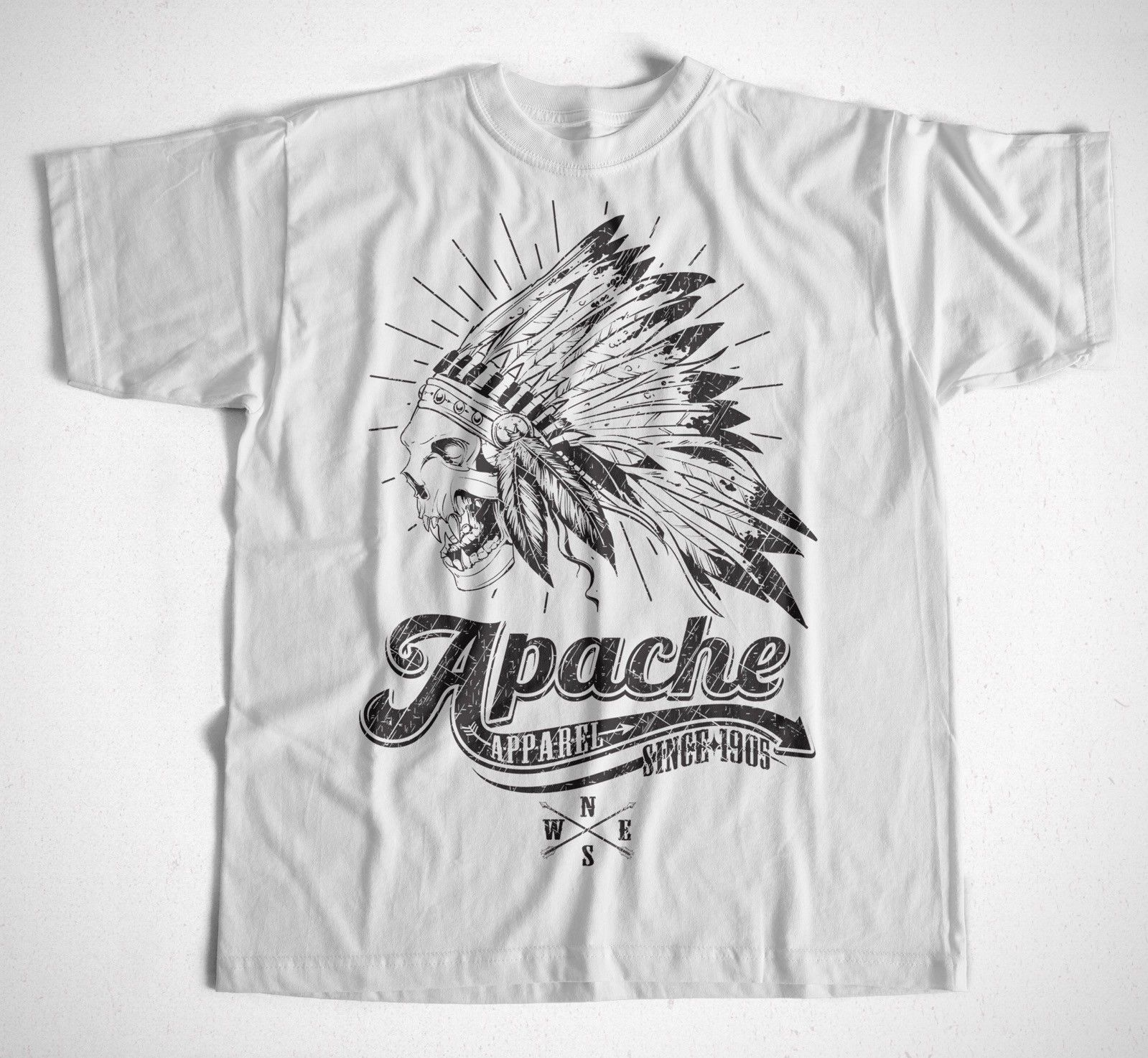 T-Shirt Apache S-XXXL Viele Farben Rocker Mototrcycle Biker Motorrad Indian Neu Unisex More Size And Colors