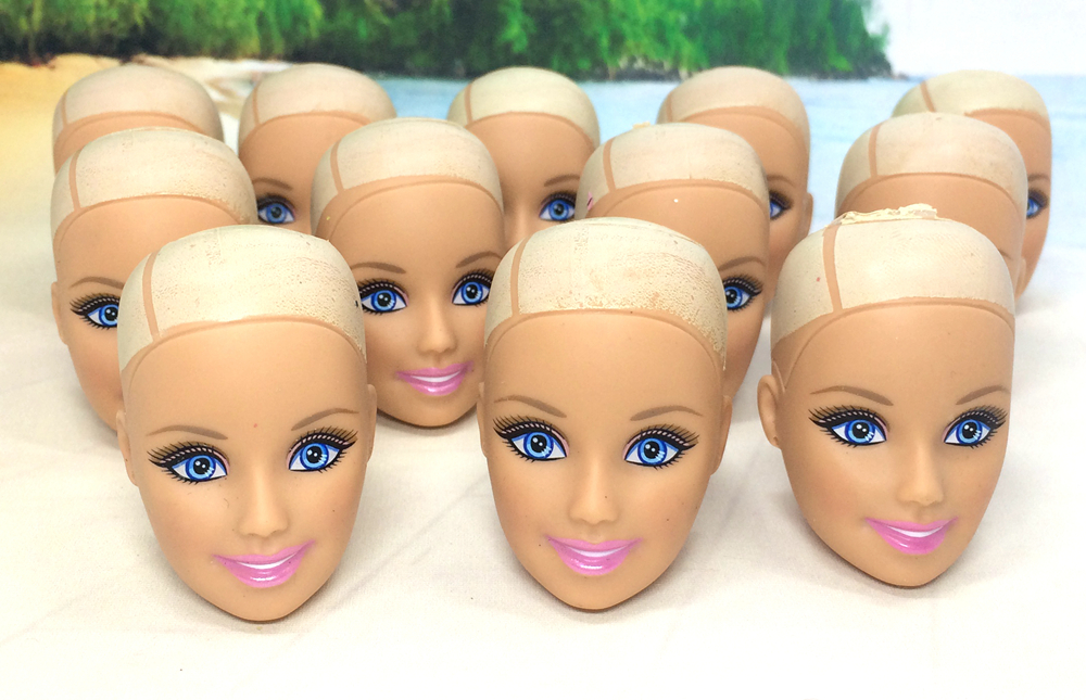 NK 10pcs Unique Doll Heads For Barbie Doll Woman Birthday Present DIY Doll Equipment No hair head Wholesale Free Transport