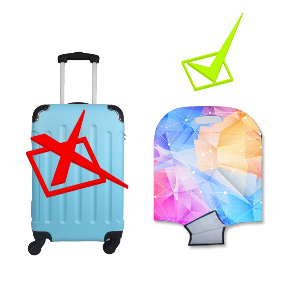 Luggage Cover Flower Printing Suitcase Protective Covers Elastic Suitcase Dust Cover Copri Valigia Travel Accessories Capa Mala in Travel Accessories from Luggage Bags