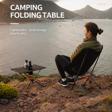 Naturehike Lightweight Folding Table Camping Side Tables with Cup Holders Portable Compact Table with Carry Bag Included - Black(China)