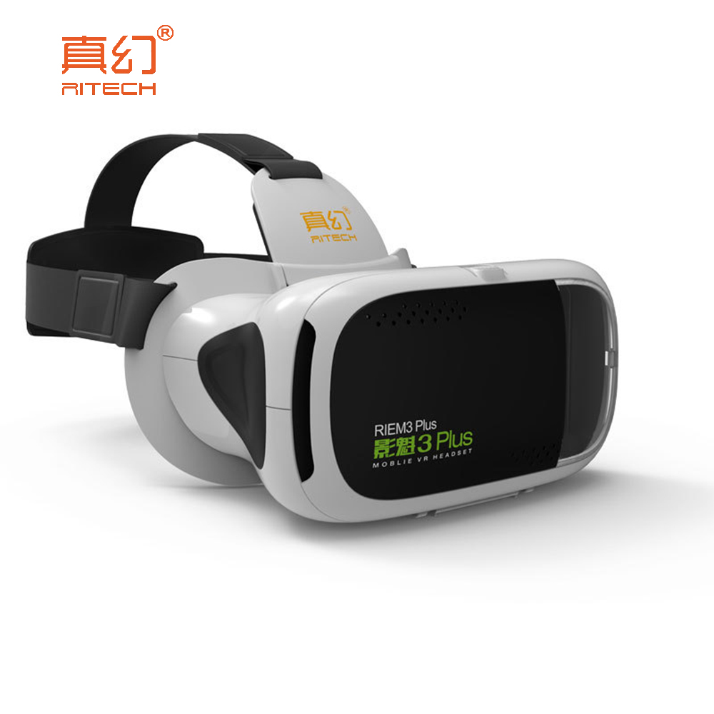 Qiyue digital products Store RITECH RIEM 3 PLUS 3D VR Glasses Smartphone Helmet Lens 3D Immersive Virtual Reality for 4.7 ~ 6 Inch Mobile Phone