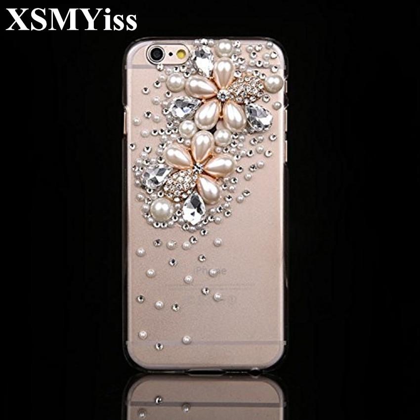 百思买 ) }}XSMYiss Luxury Handmade Bling Glitter Rhinestone Clear Soft PC+TPU