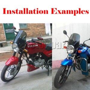 Image 5 - Phổ Xe Máy Kính Chắn Gió Đèn Tròn Xe Đạp Đường Phố Kính Chắn Gió Screen Kính Như Cho Honda Yamaha Kawasaki Suzuki Khói Rõ Ràng