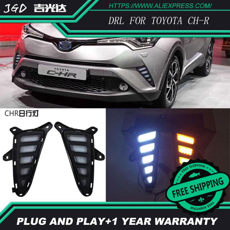 Free shipping ! Case For Toyota C-HR CHR 2016 2017 Fog lights DRL 12V LED Daytime Running Light Daylight Car styling