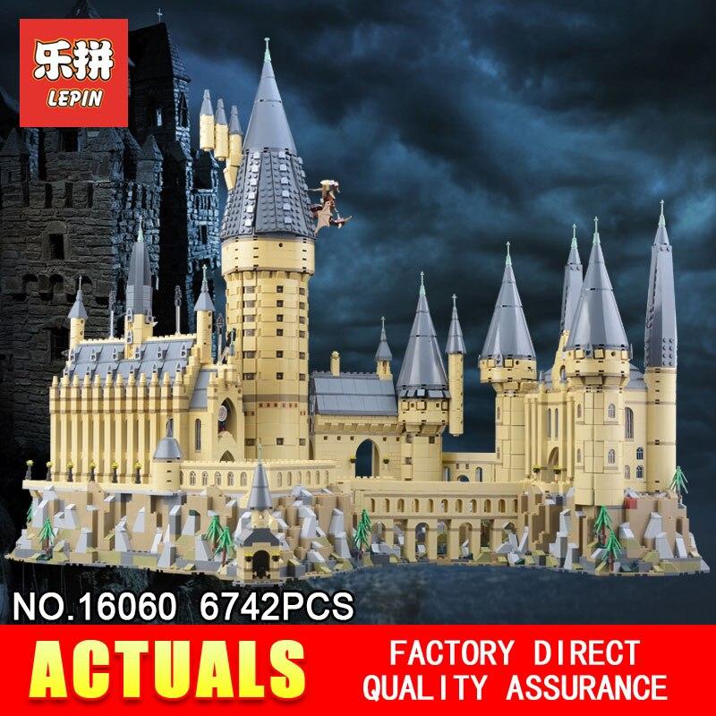 Lepin 16060 Poudlard Château Magique L'école Compatible Avec Le 71043 Jouets Éducatifs D'anniversaire Assemblé Blocs de Construction Briques