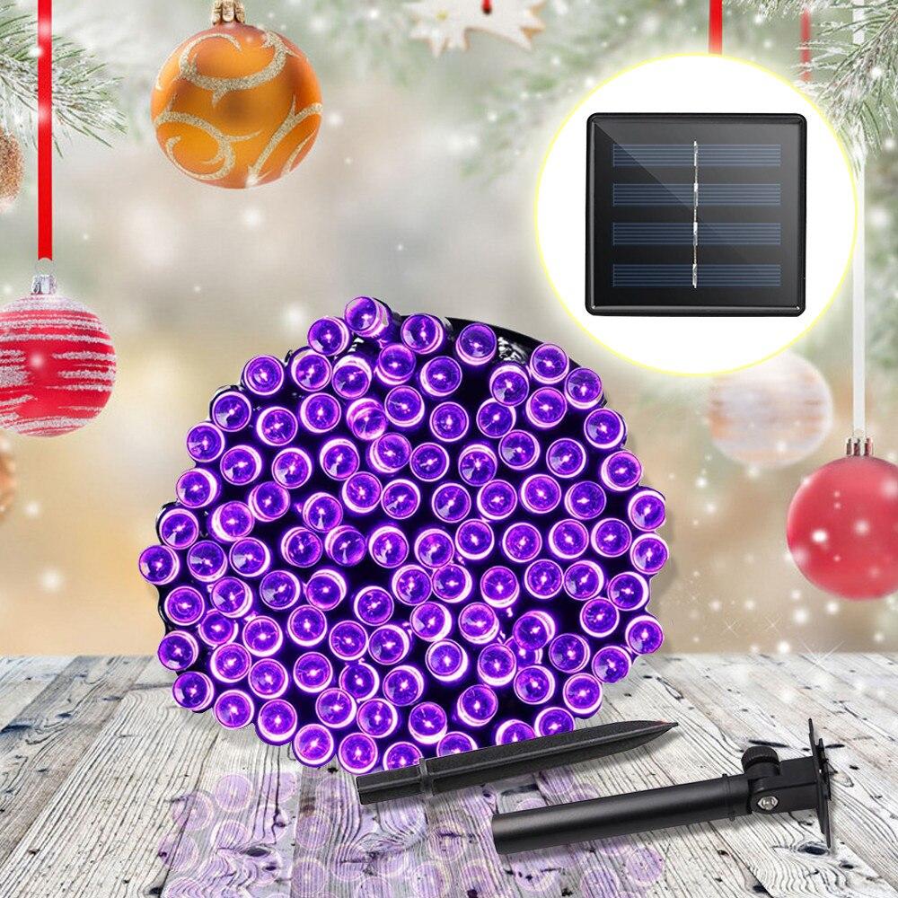 все цены на Outdoor Solar Powered LED Garland String Lights 20M 12M 7M Waterproof Fairy Light Chain Garden Christmas Decoration Lighting New онлайн