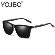 Мужские и женские солнцезащитные очки YOJBO, Ретро стиль, поляризационные, брендовые, квадратные, дизайнерские, 2019