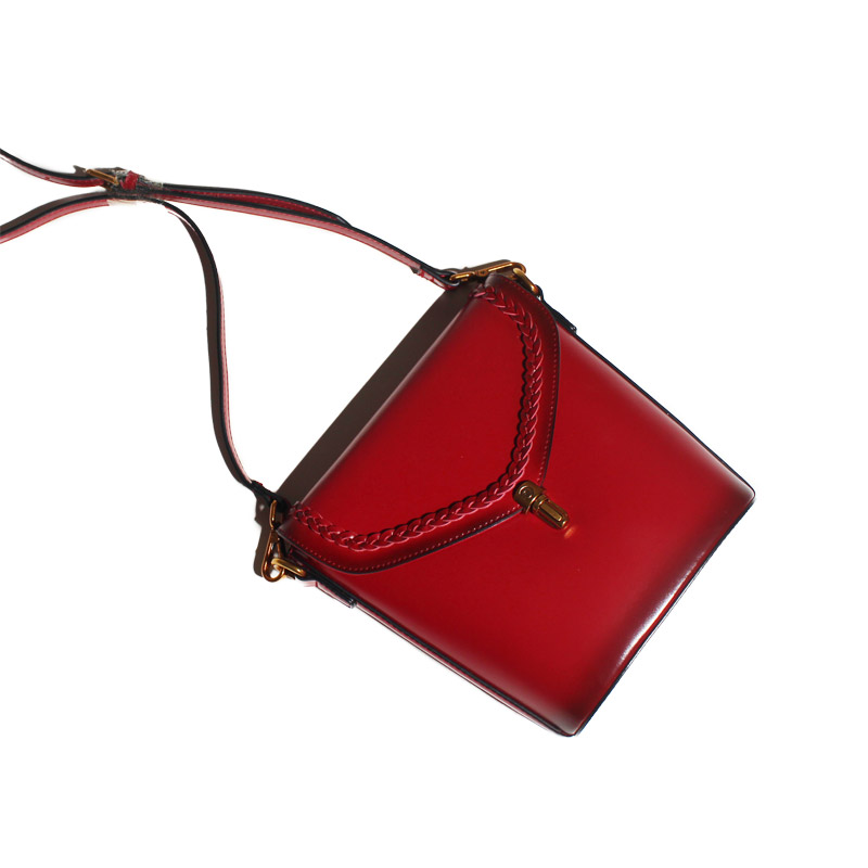 2017 Hot Sale Special Offer Women Original Leather Handbags Shoulder Messenger Bag Buckets Cowhide Skew Cross Simple Retro Mini