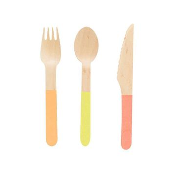 compostable wooden utesils set
