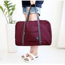 Купить с кэшбэком  Waterproof Folding Travel Bag Nylon Travel Bags Hand Luggage for Men & Women Travel Duffle Bags Tote Large Handbags Duffel