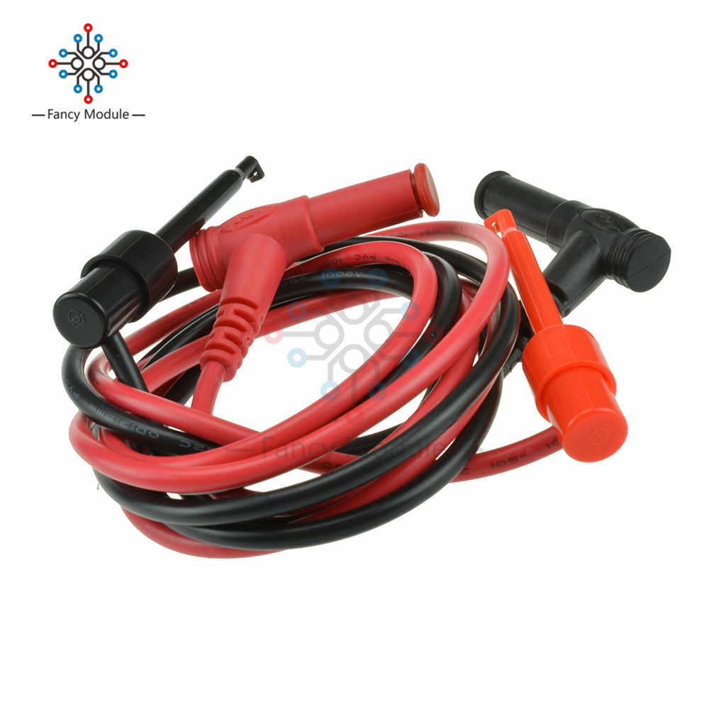 1 Pasang untuk Multimeter Alat Uji Pisang Plug untuk Menguji Kaitan Klip Probe Kabel Konektor