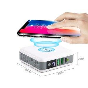 Image 3 - 3 ב 1 צ י אלחוטי מטען טעינת סוג C 2 USB נסיעות תקע כוח בנק עם דיגיטלי מסך עבור iPhone 8 Xs Max XR סמסונג VIVO