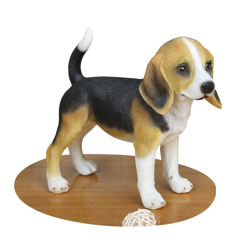 Small animal creative gift for a famous dog Desk decorations for the table resin animals statues Home decoration dies