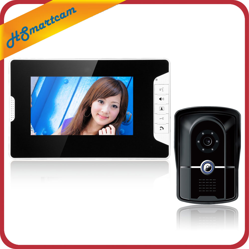 7 inch TFT Screen Video Door Phone Doorbell HD DoorBell CCTV Camera Home Security Intercom System Monitor Night Vision Rainproof homefong 7 tft lcd hd door bell with camera home security monitor wire video door phone doorbell intercom system 1200 tvl