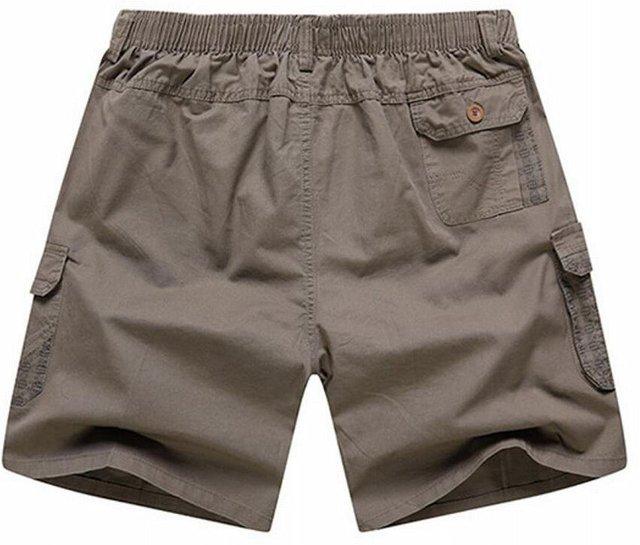 114d3bcccd Abetteric Men's Casual Cotton Twill Cargo Shorts Elastic Waistband ...