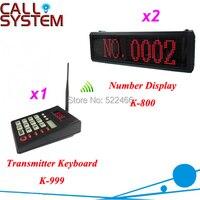 1 transmistter and 2 number display Restaurant queue service Queue Calling System