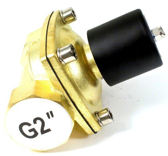 Высокое качество 2 шт. в партии 2 ''N.C латунь электромагнитный клапан для воды высокая скорость потока 12VDC