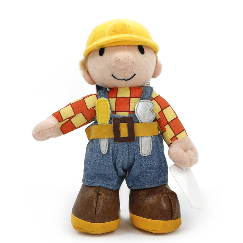 1pcs 20cm Cartoon Bob The Builder Plush Toys Cute Bob Plush Doll Soft Stuffed Toys for Kids Children Christmas Gift цена 2017