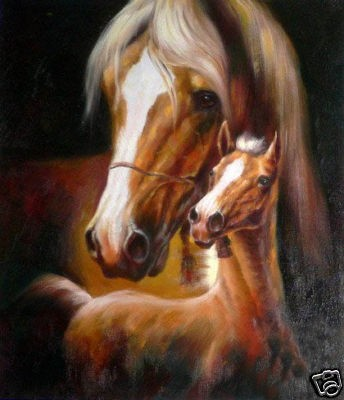 100 Hand Painted Large Horse Paintings Art Abstract