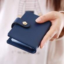 Frauen Kreditkarteninhaber/Fall kartenhalter brieftasche Visitenkarte Paket Vollledertasche 20 karten T1968