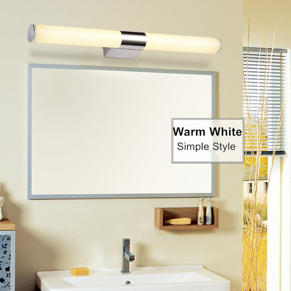 385mm 540mm Minimalist Mirror Light Bathroom Wall Lamp Bedroom Bathroom Makeup Lighting Luminaire Fixtures Warm