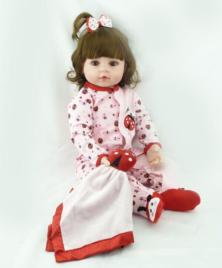 NPK bebes reborn doll 48cm soft silicone reborn baby dolls com corpo de silicone menina lol